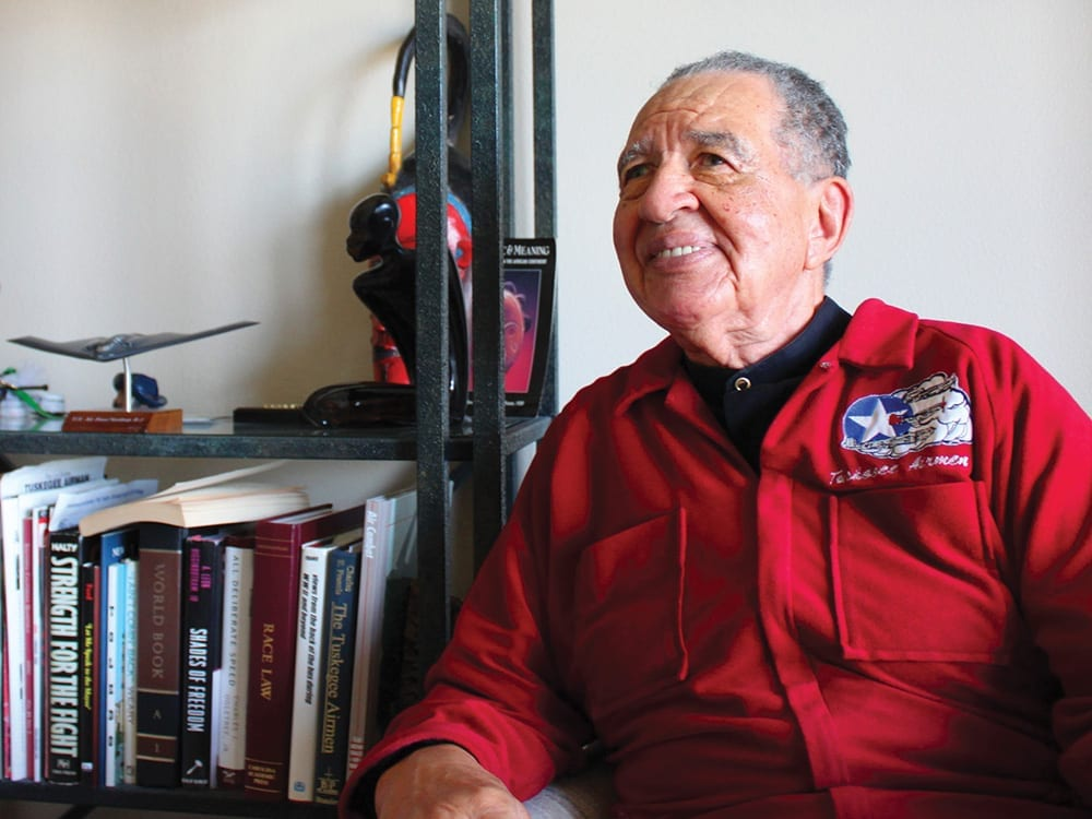 Tuskegee Airman Mitchell Higginbotham slips the surly bonds of earth