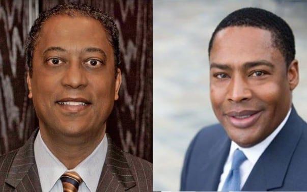 Michael Gibson (left) and Willard Jackson, Ebony Media's board chairman and vice chairman