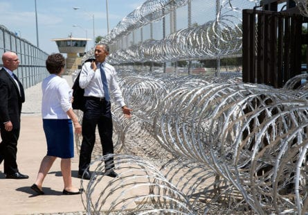 "July 16, 2015 ""In July the President became the first sitting President to visit a federal prison. Here the President departs El Reno Federal Correctional Institution in Oklahoma with Valerie Jarrett and Secret Service agent Rob Buster."" (Official White House Photo by Pete Souza) This official White House photograph is being made available only for publication by news organizations and/or for personal use printing by the subject(s) of the photograph. The photograph may not be manipulated in any way and may not be used in commercial or political materials, advertisements, emails, products, promotions that in any way suggests approval or endorsement of the President, the First Family, or the White House."