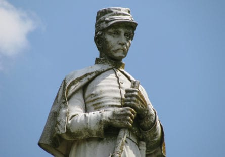 Statue of a Confederate solider.