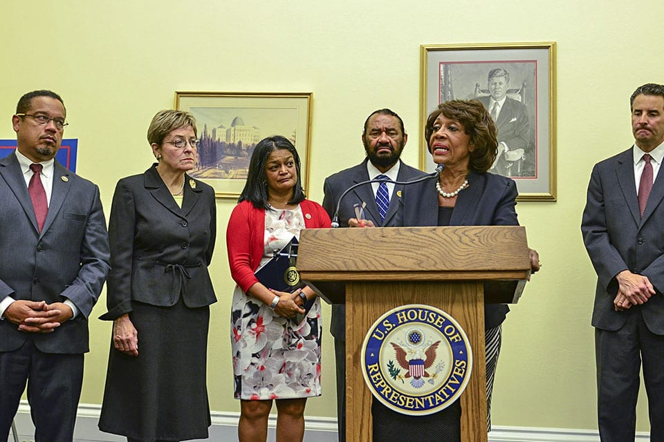 "Rep. Maxine Waters Seeks to Protect Consumers with ""Megabank"" Bill"