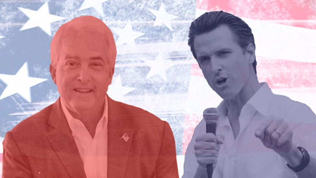Newsom Will Face Cox in Governor's Race, Villaraigosa Raised Concern of Voters Omitted From Voter Rolls