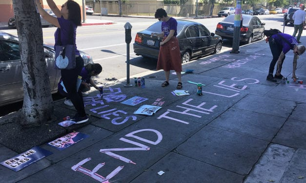 Battle Lines Drawn as Abortion-Rights Activists Leave Their Mark Outside Clinics