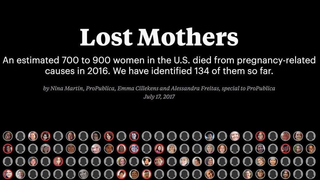 Lost Mothers—Pregnancy-Related Mortality Among African American Women