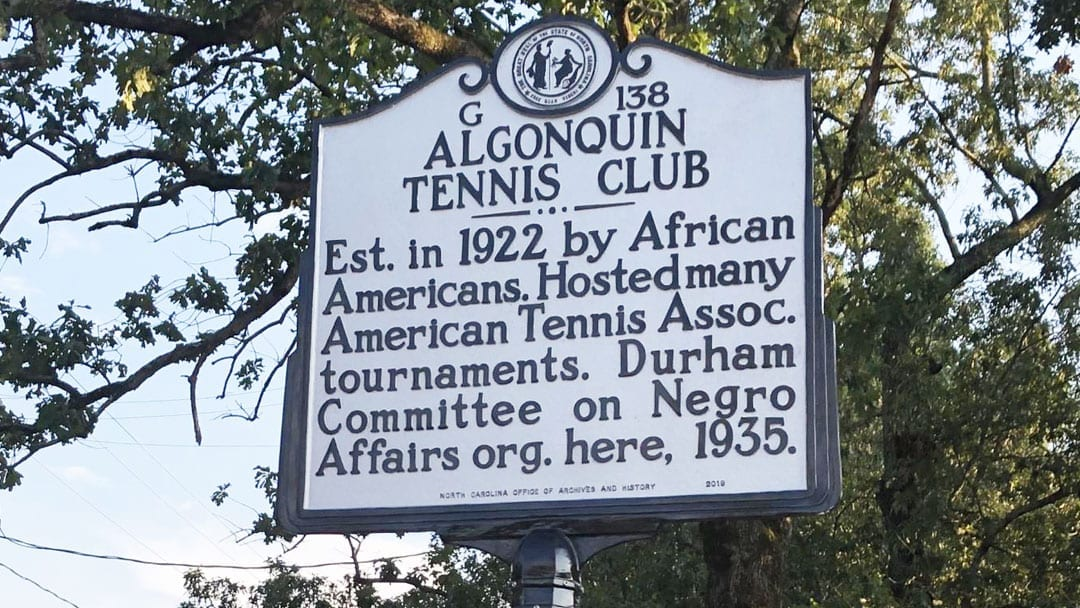 NC Historic Marker to Honor African American Tennis Club