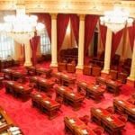 Woman Arrested After Throwing Liquid on California Senate